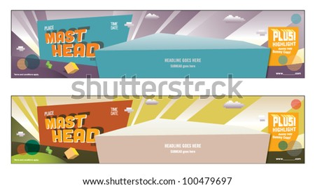 Web banner Poster design Layout design Pastel Color Arrow Template Promo Ads - stock vector
