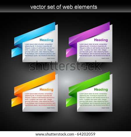 web banner style for your display text - stock vector