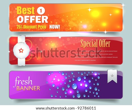 Web banner vector set - stock vector