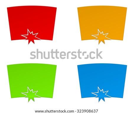 web banner with splash star - stock vector