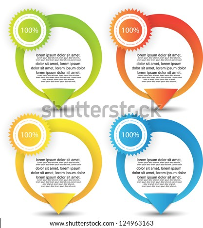 web banners best for sale and advertisement - stock vector