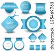 web banners labels and tags - stock vector