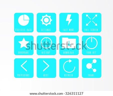 Web browser icon - stock vector