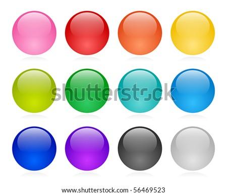 Web button set - stock vector