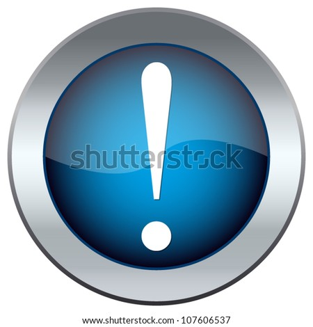 web button with an exclamation mark - stock vector