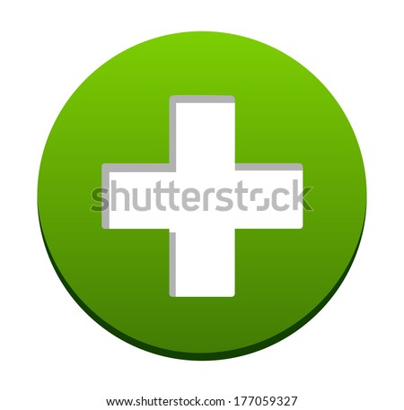 web buttons accept add icon - stock vector