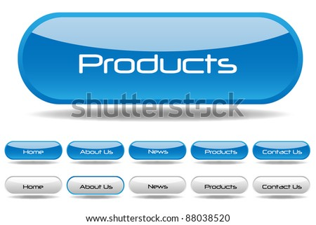 Web Buttons Illustration - stock vector