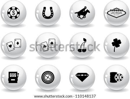 Web buttons, Las Vegas icons - stock vector