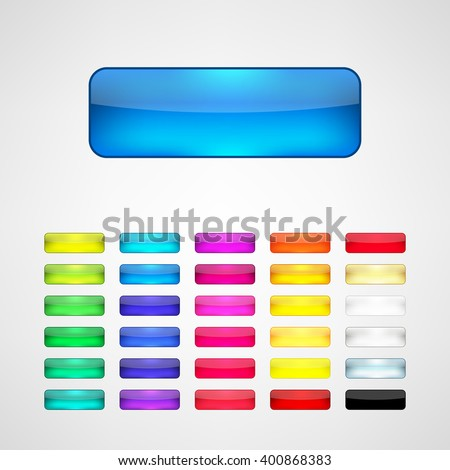 web buttons set - stock vector