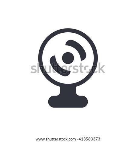 web camera icon, web camera symbol, web camera vector, web camera eps, web camera image, web camera logo, web camera flat, web camera art design, web camera white  - stock vector