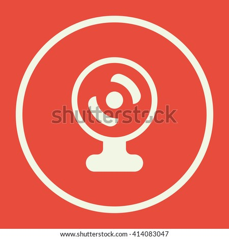 web camera icon, web camera symbol, web camera vector, web camera eps, web camera image, web camera logo, web camera flat, web camera art design, web camera red  - stock vector