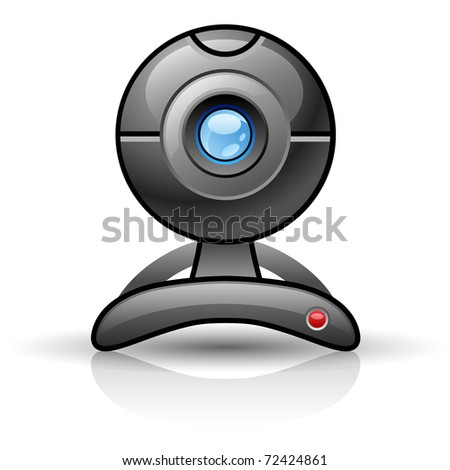 Web camera isolated on white background. - stock vector