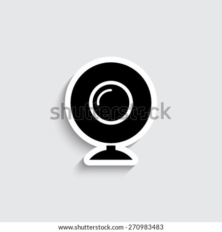 web camera  - vector icon - stock vector