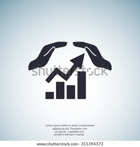 web communication and hands icon. vector design - stock vector