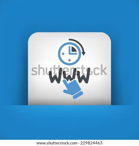 Web connection icon - stock vector