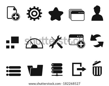 web Dashboard icons set - stock vector