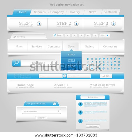 Web Design Element Frame Template - stock vector