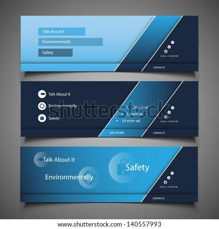 Web Design Elements - Header Design - stock vector