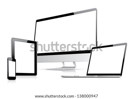 Web design in electronic devices vector eps10 - stock vector