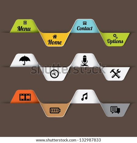 Web design options banner. Vector illustration - stock vector