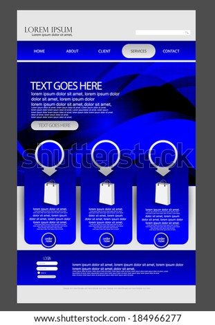 web design template - stock vector