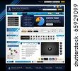 Web Design Template Element Frame Dark - stock vector