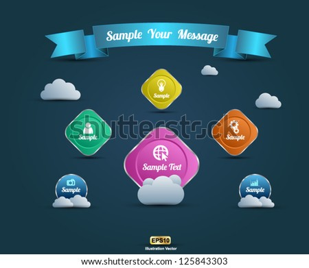 Web design template modern - stock vector