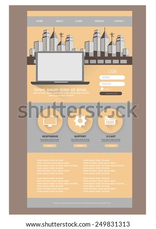 web design template. vector - stock vector