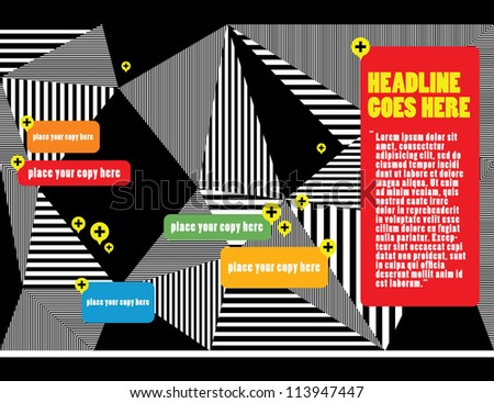 Web design/ Vector Illustration/ Layout Design/ Background/ Wallpaper /Abstract - stock vector