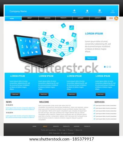 Web Design Website Vector Elements.Responsive web design concept - stock vector