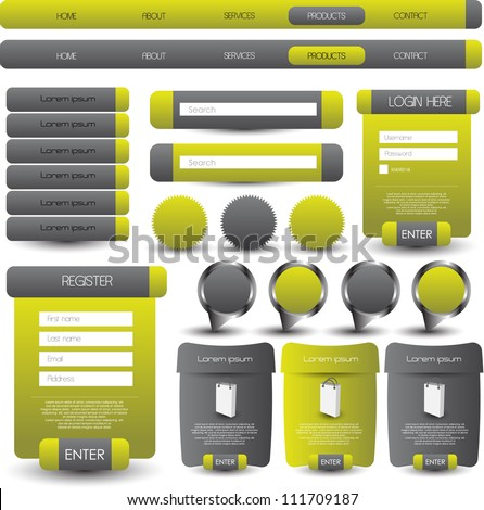 web designing element - stock vector