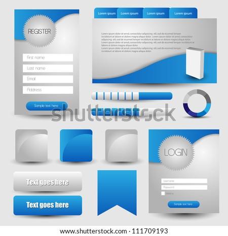 web designing element - stock vector