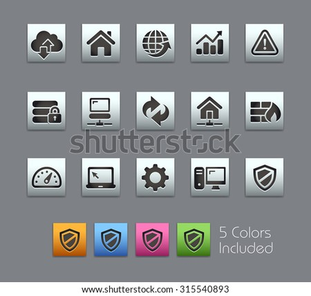 Web Developer Icons The vector file includes 5 color versions for each icon in different layers ---- - stock vector