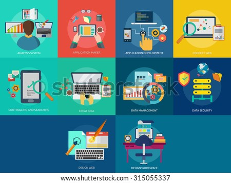 Web & Development - stock vector