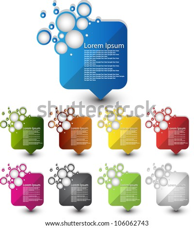 Web element - stock vector
