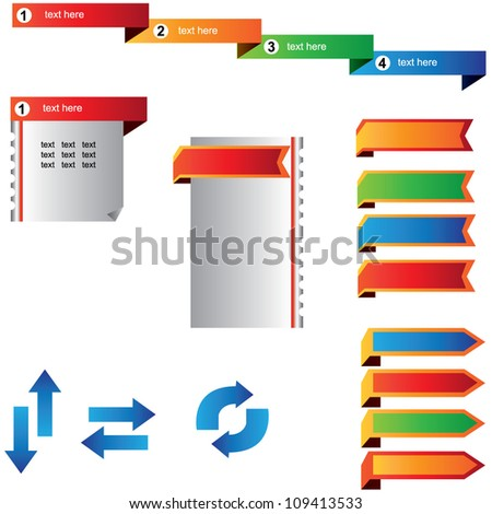 web element and bookmark - stock vector