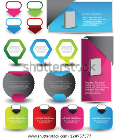 web element collection - stock vector
