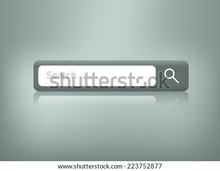 Web element. Isolated search bar. - stock vector