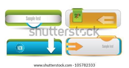 web elements - stock vector