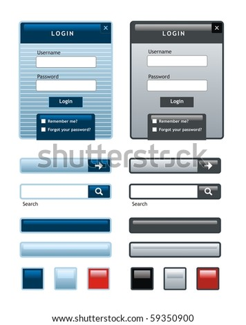 Web form tags - stock vector