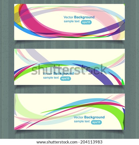 Web header design template, vector - stock vector
