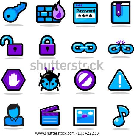 Web Icon Set B - stock vector