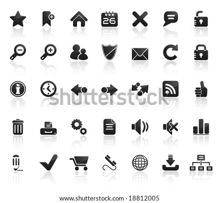 Web Icon Set. Easy To Edit Vector Image. - stock vector