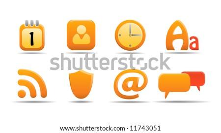 Web icon set 6 | Pumpkin series. See my portfolio for more. - stock vector