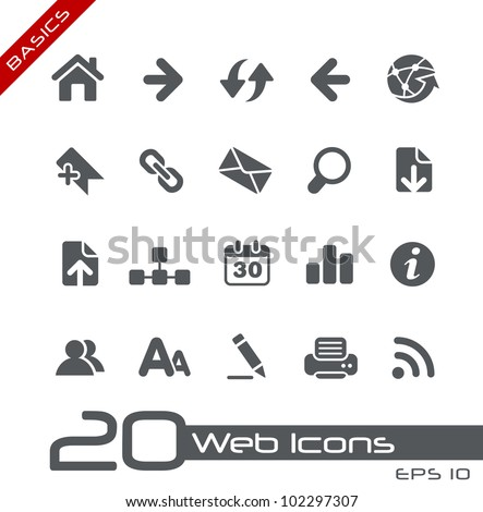 Web Icons // Basics - stock vector