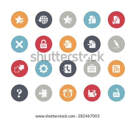 Web Icons // Classics Series - stock vector