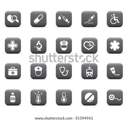 web icons, health care - stock vector