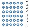 Web icons in speech clouds vector collection - stock vector