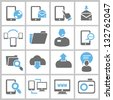 web icons, internet icons set, vector - stock vector