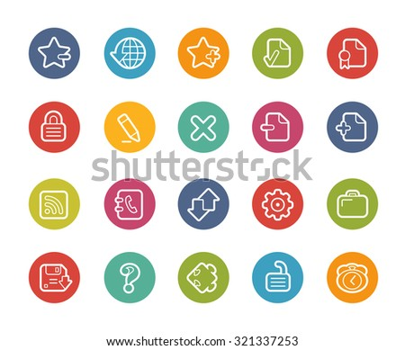 Web Icons // Printemps Series - stock vector